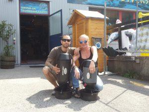 Jetzt testen und leihen: Bonex-Scooter bei den Austrian Divers