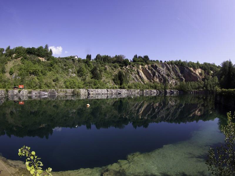 """Am Naturparksee Diez finden Anfang Juli auch die """"Dive Days Diez"""" statt. Foto: Tauchbasis Diez"""