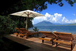 Das Sonnendeck im Resort.