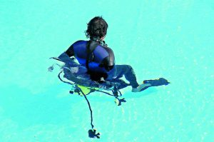 Anziehen im Wasser 4