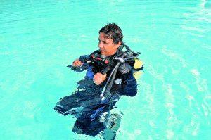 Anziehen im Wasser 5