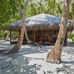 Die Doppelbungalows (Superior) liegen schattig unter Palmen nur wenige Meter hinter dem Strand. Foto: H. Hoepfner