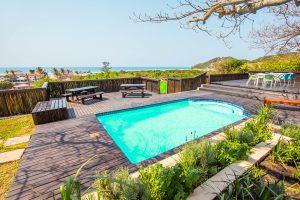 Der Pool der Scuba Addicts Dive Lodge Mosambik