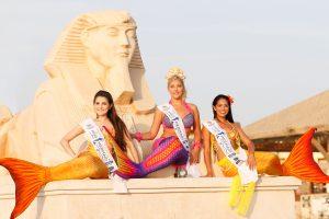 """""""Miss Mermaid Germany 2015""""-Gewinnerinnen: Sandra Pisarra 2. Platz, Vanessa Reder 1. Platz und Maria Bruggner 3. Platz (von links; Copyright missmermaid.de)"""