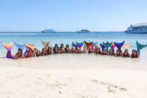 """Die Miss-Mermaid-Kandidatinnen kämpften um den Titel """"Miss Mermaid National und International"""" ( copyright missmermaid.de)"""