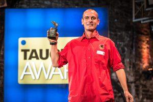 In der Kategorie beste Tauchbasis Karibik bekam Andreas Johnston von den Extra Divers Speyside auf Tobago den Award (Foto: Stefan von Stengel).