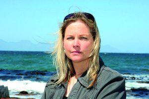 (Byline/Copyright: Miller & Maclean) Shark expert Alison Kock by the sea in Cape Town, South Africa, where Brition Michael Cohen was attacked by a Great White on Wednesday