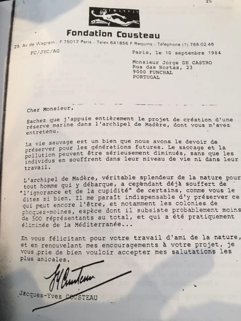 Der wohl prominenteste Unterstützer des Projekts Nationalpark: Jacques-Yves Costeau hat ebenfalls einen Brief an die portugiesische Regierung geschrieben. Foto: Madeira Diving Center