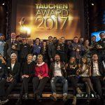 Glückliche Gesichter: Das sind die Gewinner des 19. TAUCHEN-Awards....