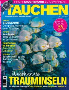 Der Titel der TAUCHEN-Juli-Ausgabe 2017.