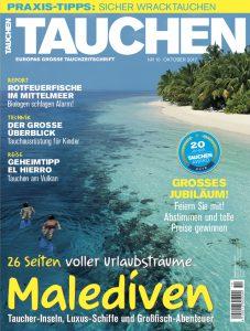 Die neue TAUCHEN Oktober Ausgabe 2017.
