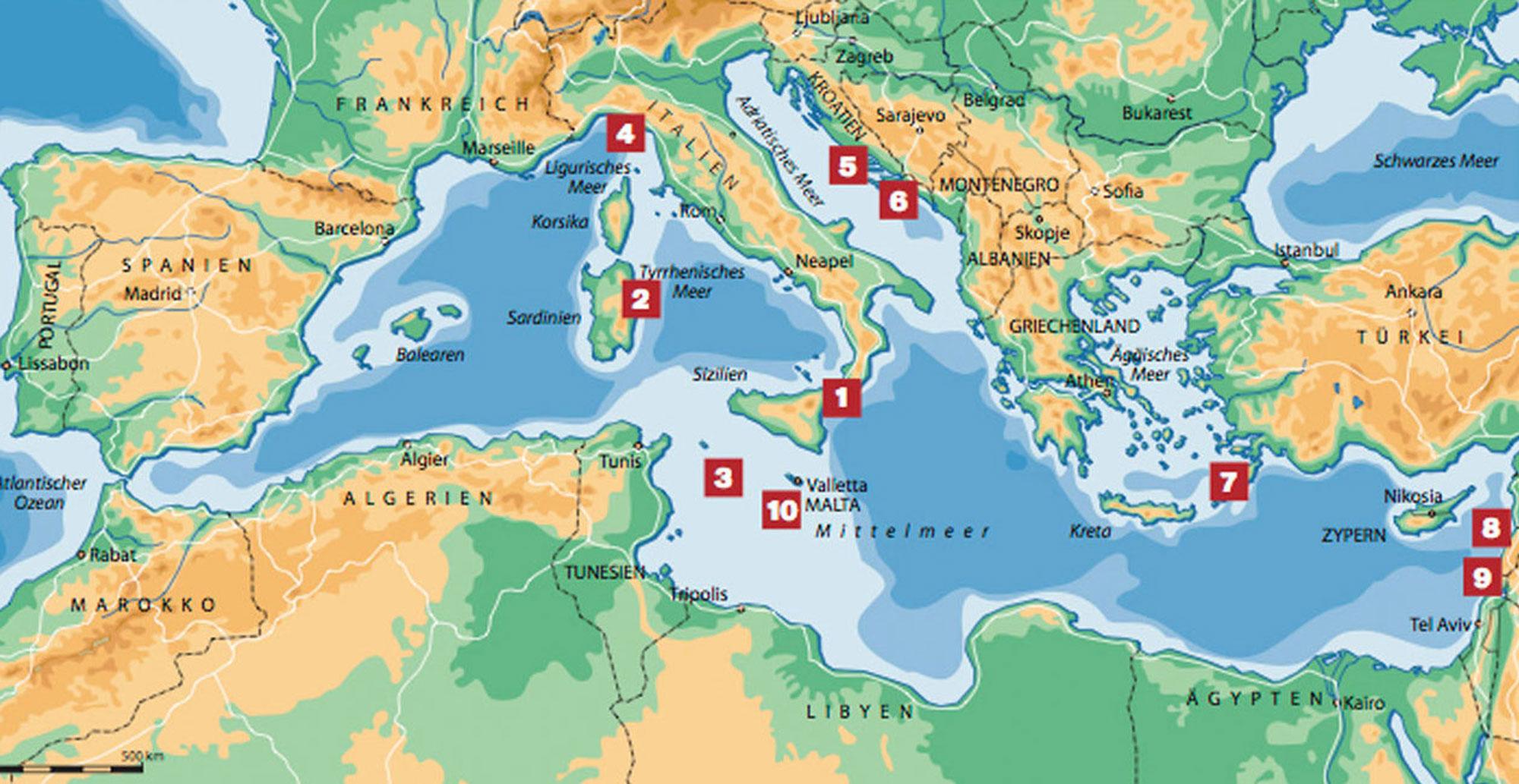 Der Grosse Weisse Mythos Im Mittelmeer Tauchen