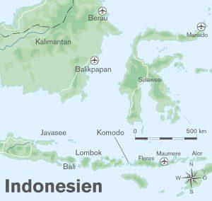 Karte Indonesien