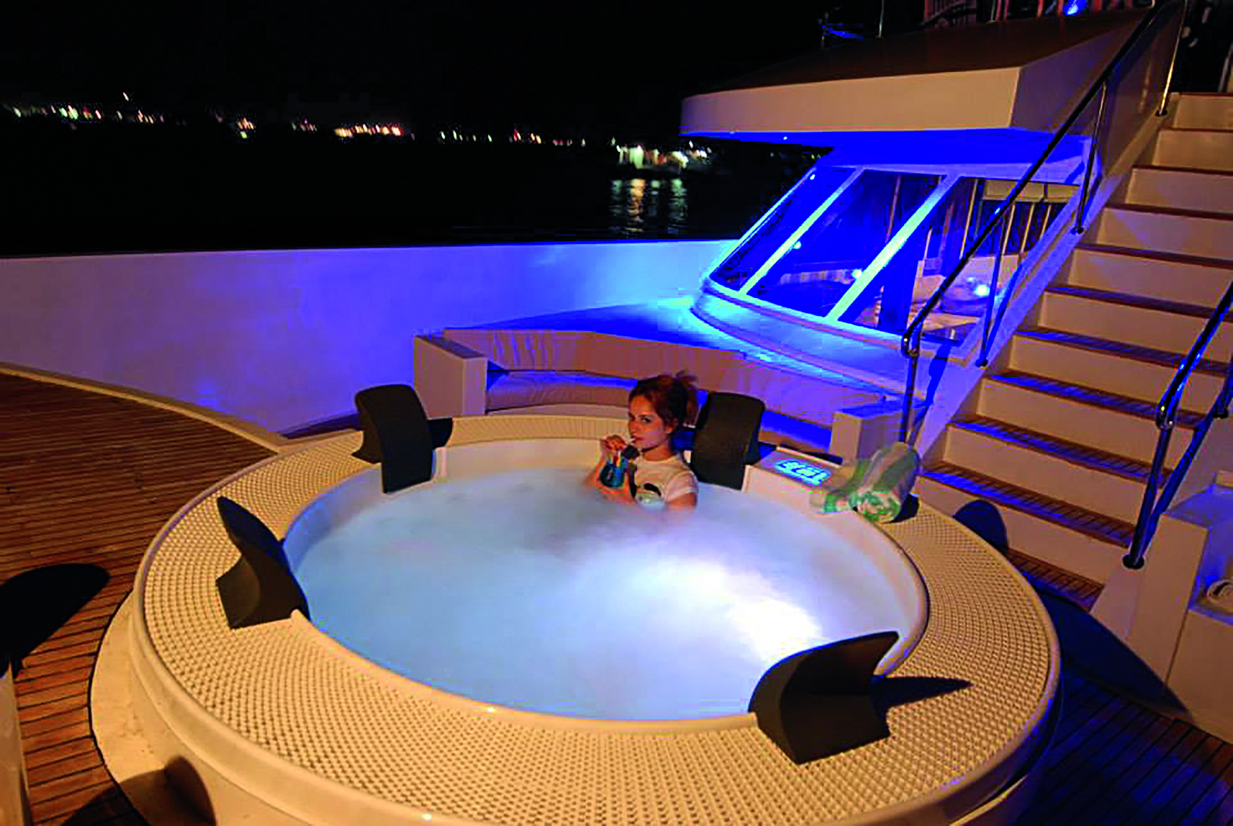 whirlpool auf dem schiff