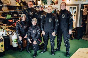 Die Testtauch-Crew der Norwegen-Reise 2018. Foto: Julian Jankowski.