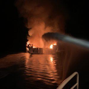 Warum das Feuer an Bord des Tauchschiffes Conception ausbrach ist noch ungeklärt. Foto: The Public Information Officers of the Ventura County Fire Department