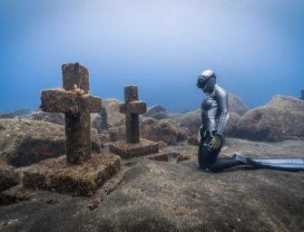 Unheimliche Bilder eines Unterwasserfriedhofs