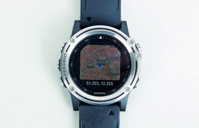 Einzoombar: Auf der GPS-Karte sieht man, wo man gerade ist.