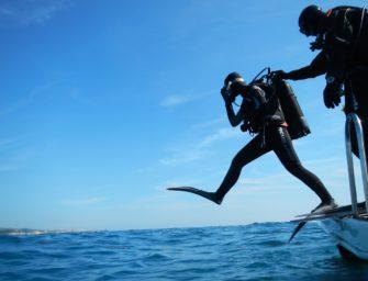 Weltweit erster Unterwasser-Klimastreik